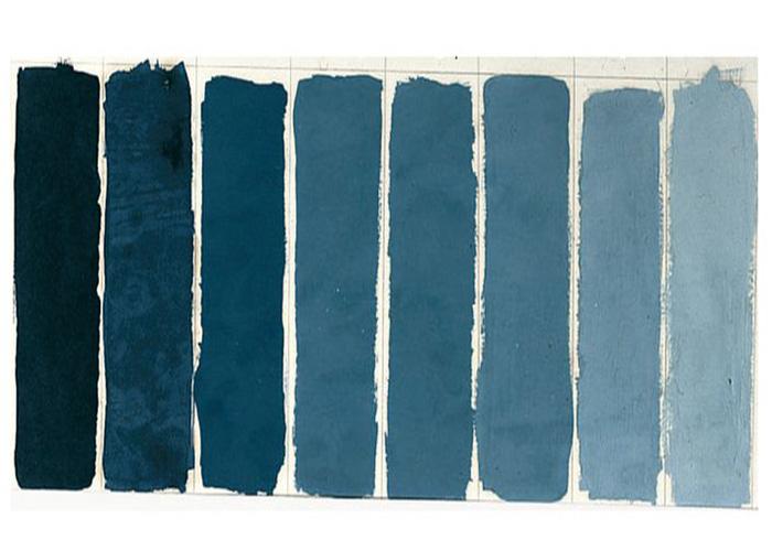 O le bleu de prusse o my room - Camaieu de bleu peinture ...